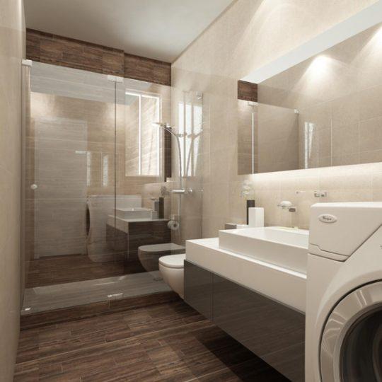 Διακόσμηση μοντέρνου μπάνιου